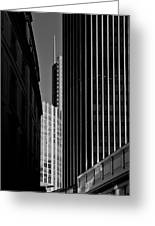 Heron Tower London Black And White Greeting Card