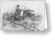 Horserider, C1840 Greeting Card