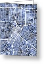 Houston Texas City Street Map Greeting Card