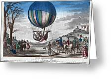 Hydrogen Balloon, 1783 Greeting Card