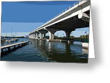 Indian River Lagoon At Vero Beach In Florida Greeting Card