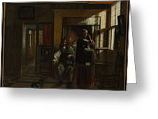 Interior With A Young Couple Greeting Card