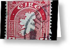Irish Postage Stamp Greeting Card