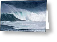 Jaws Wave Greeting Card