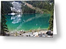 Joffre Lake Middle B.c Canada Greeting Card