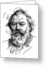 Johannes Brahms 1833-1897 Greeting Card