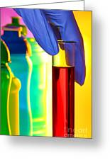 Laboratory Test Tube In Science Research Lab Greeting Card