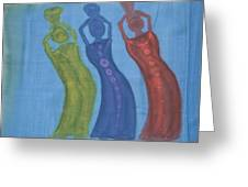 3 Ladies Greeting Card