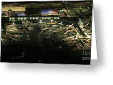 Laguardia Airport Aerial View Greeting Card