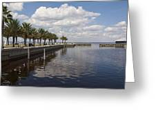 Lake Monroe At The Port Of Sanford Florida Greeting Card