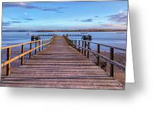 Lake Pier - England Greeting Card