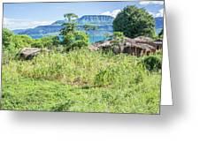 Landscape At The Lake Malawi Greeting Card