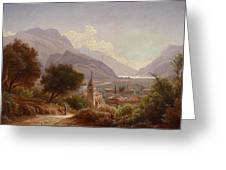 Landscape In Upper Italy Greeting Card