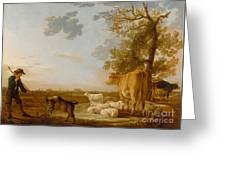 Landscape With Cattle Greeting Card