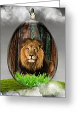 Lion Art Greeting Card