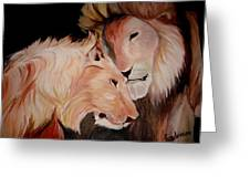Lion's Love Greeting Card
