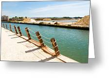 Main Canal - Trapani Salt Flats Greeting Card