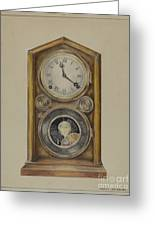 Mantel Clock Greeting Card