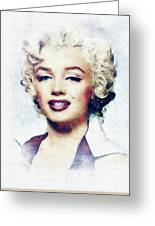 Marilyn Monroe, Actress And Model Greeting Card