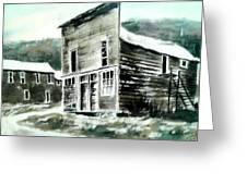 Marysville Ghost Town Montana Greeting Card