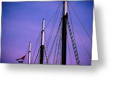 3 Masts In Halifax Greeting Card