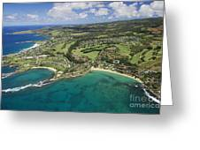 Maui Aerial Of Kapalua Greeting Card