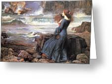Miranda - The Tempest Greeting Card