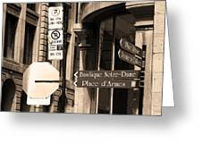 Montreal Street Scene Greeting Card