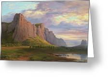 Mount Arapiles And The Mitre Rock Greeting Card