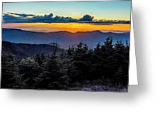 Mount Mimtchell Sunset Landscape In Summer Greeting Card