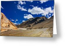 Mountains Of Ladakh Jammu And Kashmir India Greeting Card