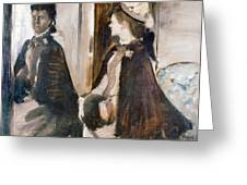 Mrs Jeantaud In The Mirror  Greeting Card