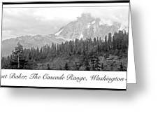 Mt. Baker, Cascade Range, Late Afternoon Greeting Card