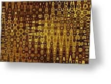 Mushroom Abstract Greeting Card