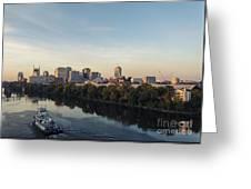 Nashville Tennessee Skyline Sunrise  Greeting Card