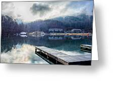 Nature Around Lake Lure Chimney Rock And Broad River North Carol Greeting Card