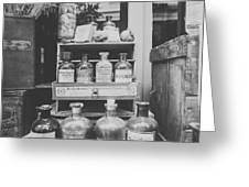 New Orleans Apothecary - Bw Haze Greeting Card