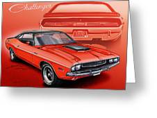 Dodge Challenger 1970 R/t Greeting Card