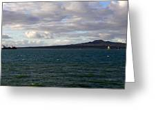 New Zealand - Vessel Departing Auckland Greeting Card
