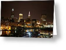 Nightlife In Cleveland Greeting Card