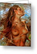Nude  Greeting Card by Arthur Braginsky