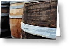 Oak Wine Barrel Greeting Card