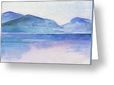 Ocean Watercolor Hand Painting Illustration. Greeting Card