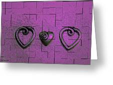 3 Of Hearts Greeting Card