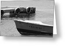 Old San Juan Puerto Rico Local Boats Greeting Card