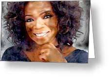 Oprah Greeting Card