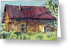Outbuilding Greeting Card by Donald Maier