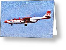 Painting Of Iskra Polish Air Force Team Greeting Card