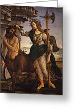 Pallas And The Centaur Greeting Card