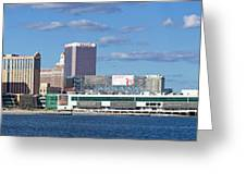 Panoramic View Of Atlantic City, New Jersey Greeting Card